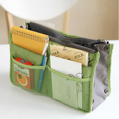 Green Zipper Storage Bag