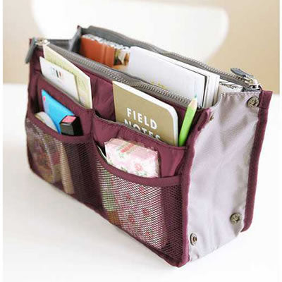 Claret-red Zipper Storage Bag