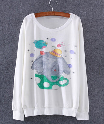 Funny Elephant Women Sweaters