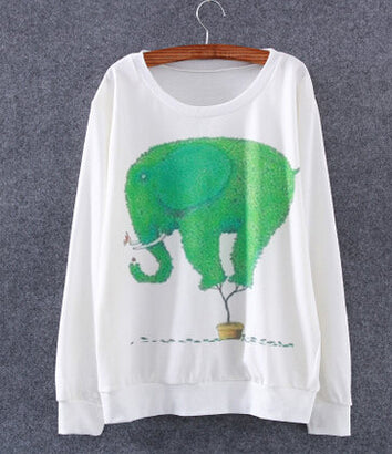 Green Elephant Sweater