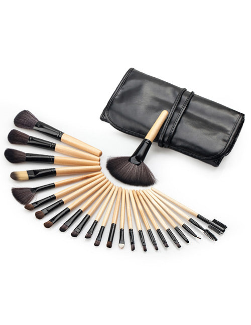 Black and yellow Cosmetic Brush - Crateen