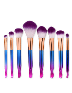 Blue and purple Cosmetic Brush - Crateen