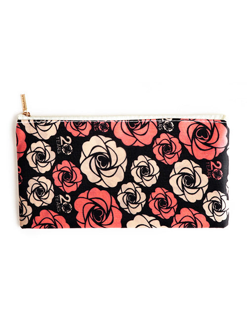 Black Flower Cosmetic Bag
