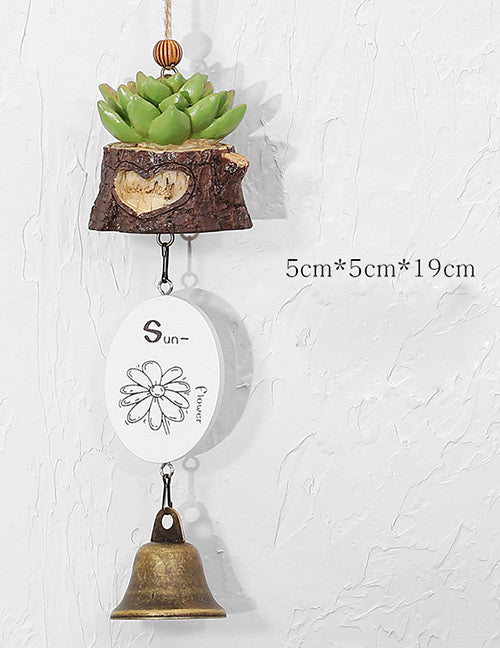 Green Succulent Plants Chimes