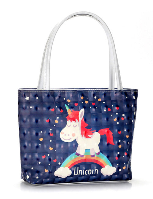 Navy Unicorn Cosmetic Bag