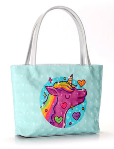 Green Unicorn Cosmetic Bag