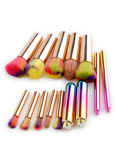 Round Shape Decorated Makeup Brush - Crateen