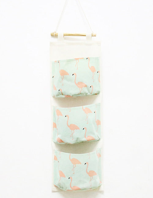 Green Flamingo Storage Bag