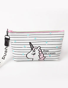 Black & White Unicorn Storage Bag