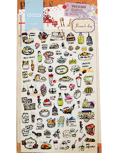 Foods Decorated Sticker
