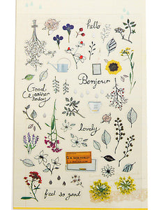 Flowers Decorated Sticker