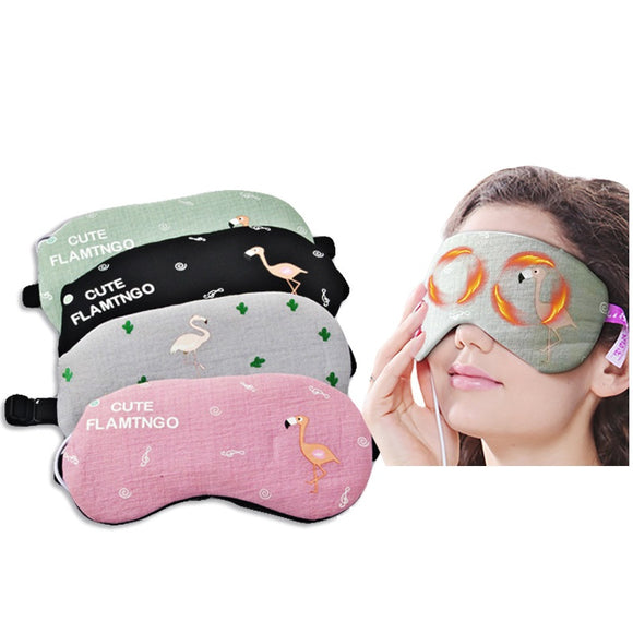 Flamingo sleeping eye mask
