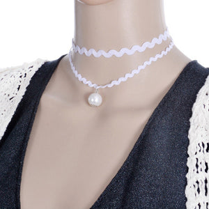 Retro White Pearl Necklaces for women