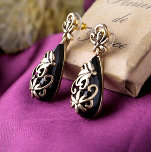 Golden Black Fashion new Earring - Crateen