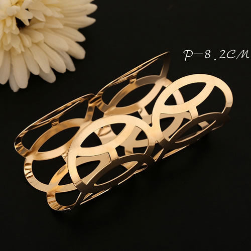 Gold Color Round Fashion Bracelet - Crateen