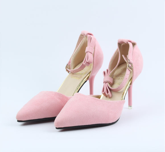 Pink Style Heel Shoes