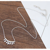 Silver Oval Necklace - Crateen