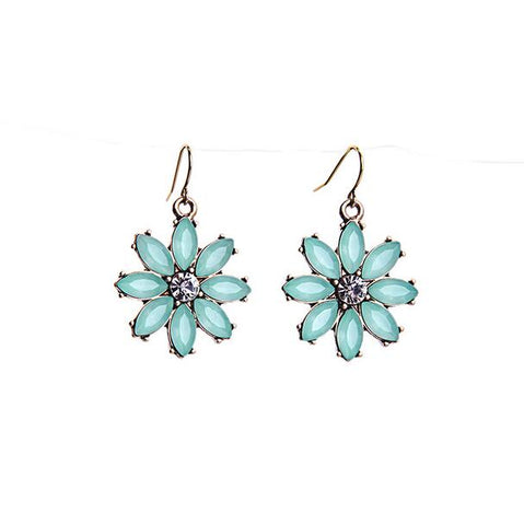 Fashion Blue  Earring - Crateen