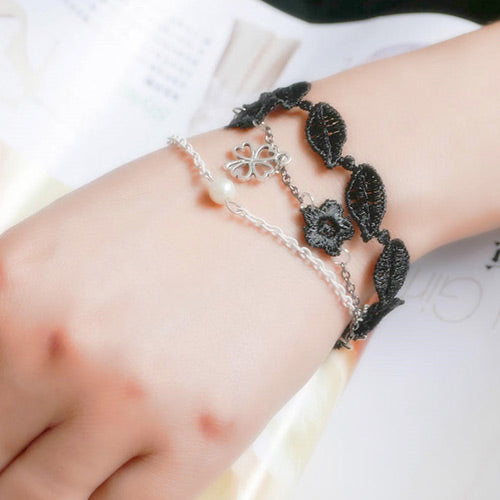 Black Clover Fashion Bracelet - Crateen