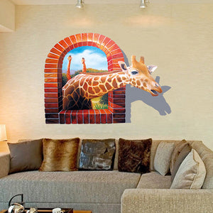 3D Giraffe Wall Stickers - Crateen