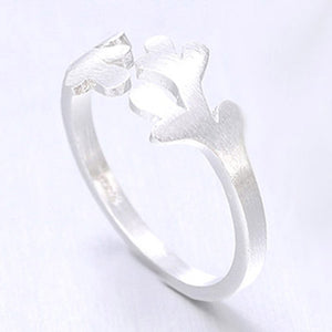 Pretty Silver Branch Ring - Crateen