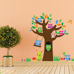 Owl & Tree Wall Sticker - Crateen
