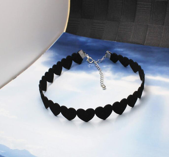 Black Heart  Necklaces