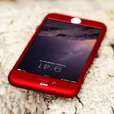 Red iPhone 360' Cover - Crateen
