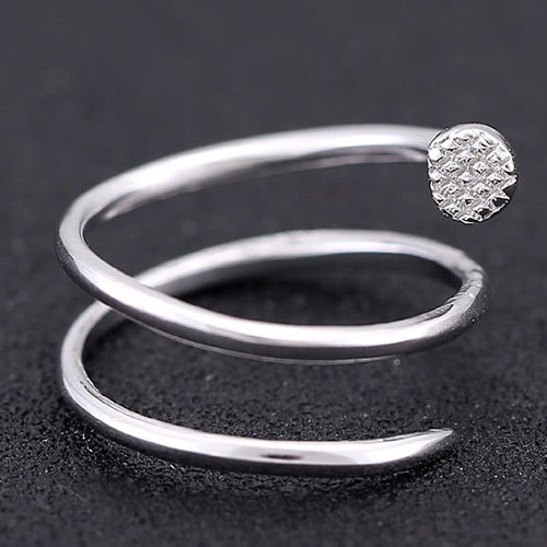 Sweet Silver Diamond Rings - Crateen