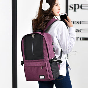 Duo Contrast Multifunction Pink Travel Backpack