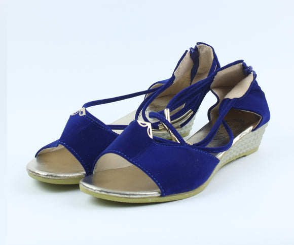 Dark Blue Fashion Shoes - Crateen