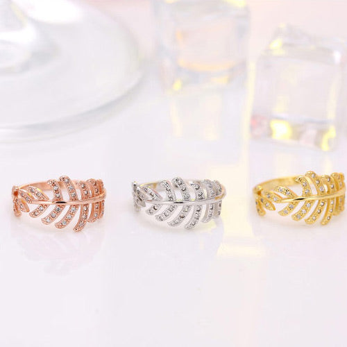 Sweet Leaf Rings - Crateen