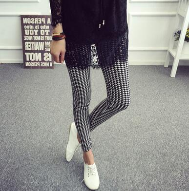 White-Black S  Leggings - Crateen
