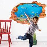 3D Sea Wall Sticker - Crateen