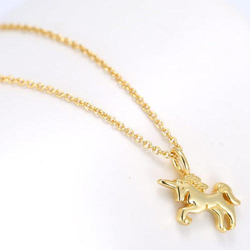 Gold Color Cockhorse Necklace - Crateen