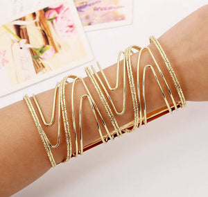 Gold Color Geometry Fashion Bracelet - Crateen
