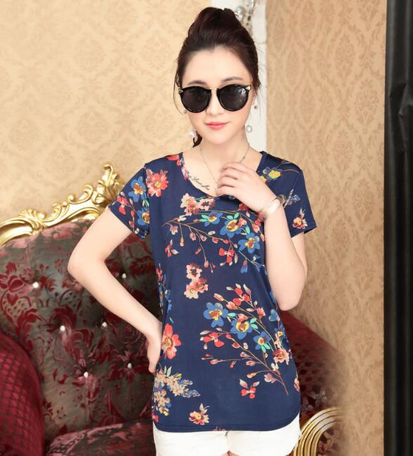 Flower Small Fashion Tshirts for ladies