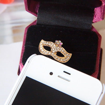 Gold diamond decorated Mask design Mobile phone - Crateen