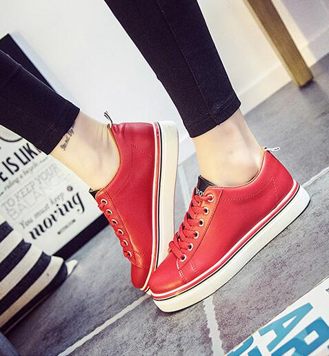 Blood Red Sport Shoes - Crateen