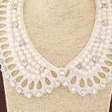 White Diamond Detachable Collars