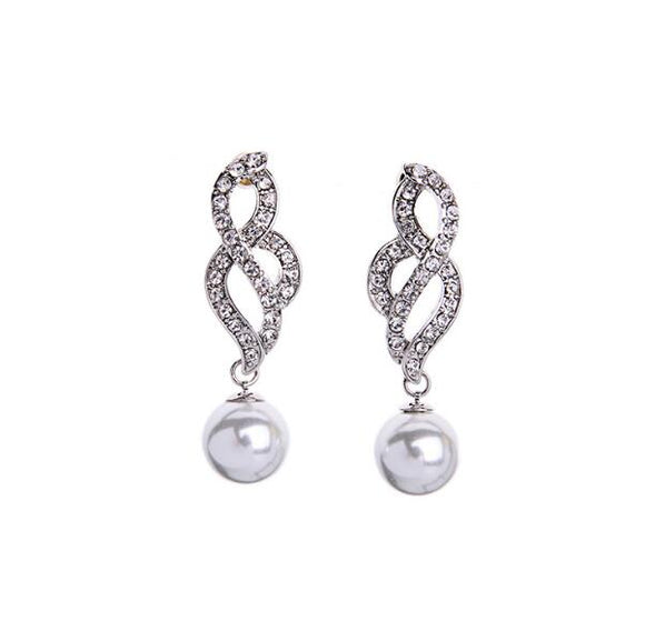 White Pearl Earrings for girls