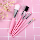Five Pieces High Quality Makeup Brushes Set