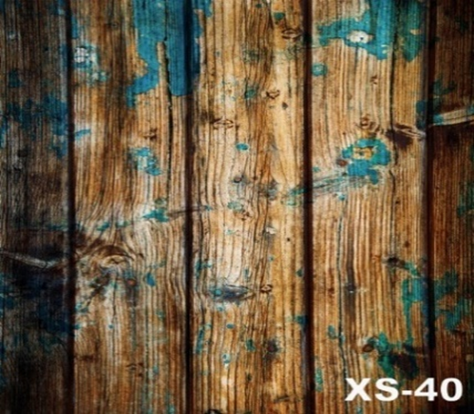 Turquoise on Brown Wood Photography Wallpaper - Crateen