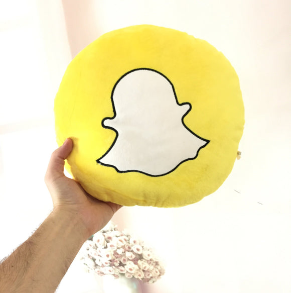 Snapchat Icon Pillow
