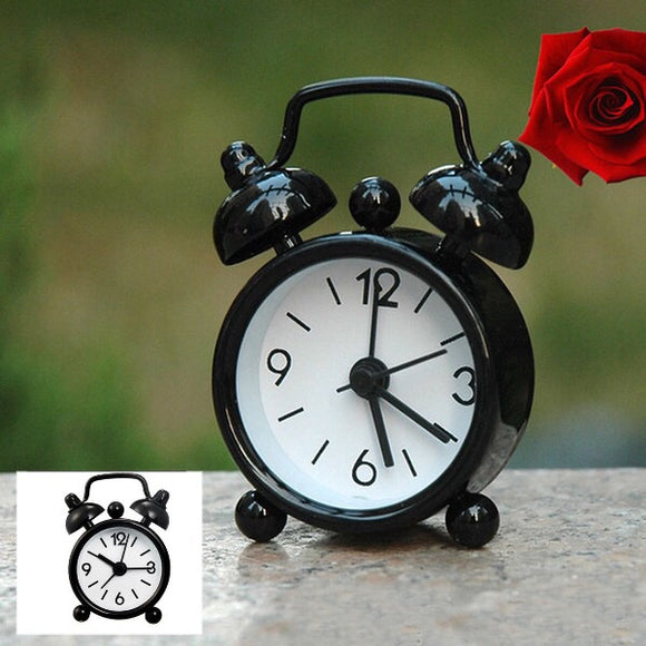 Mini Alarm Clock Black