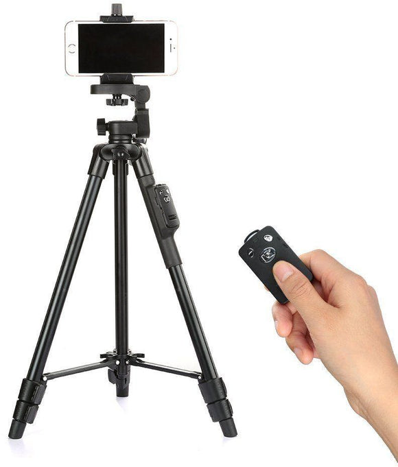 Mobile and Camera Tripod With Bluetooth Shutter