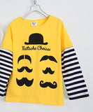 Yellow Mustache Kids Shirt