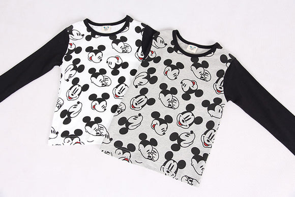 White Mickey Kids Shirt