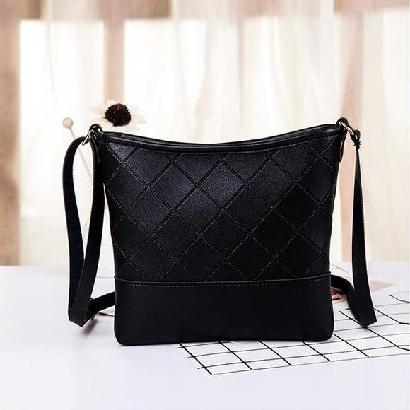 Patchwork Texture Synthetic Bag