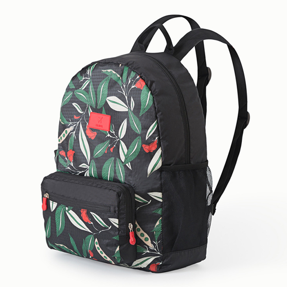 Printed Colorful Leaves Nylon Student Backpack